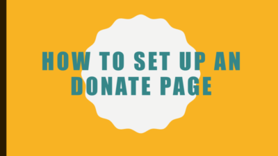Creating a Donation Page